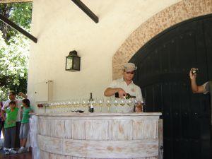 Experimentando o vinho