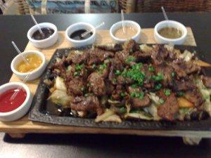 Tábua de carne no Tatame