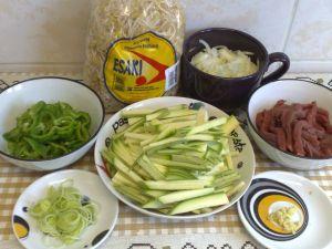 Ingredientes  da receita com moyashi