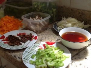 Ingredientes yakisoba