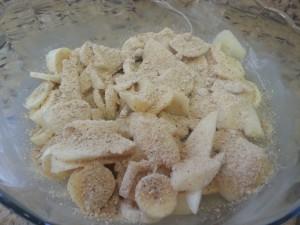 Pêras e bananas assadas  (1)