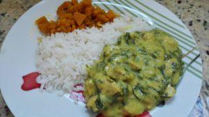 indiano-espinafre-picado